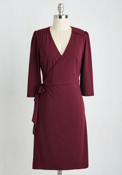 Lighthearted Lecture Dress in Cranberry