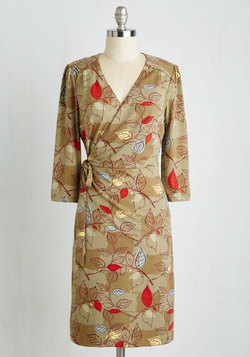 Lighthearted Lecture Dress in Leaves