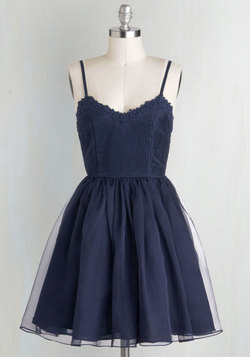 Navy Too Late Dress