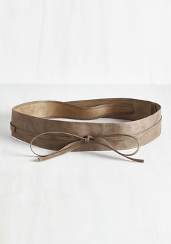 Sash Samba Belt in Taupe - Extended Size