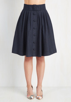 Intern of Fate Skirt in Navy