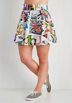 Playful Feeling Skirt in Comic Book