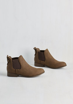 Downtown for the Day Bootie in Brown