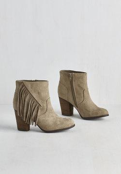 Live Music to My Ears Bootie in Taupe