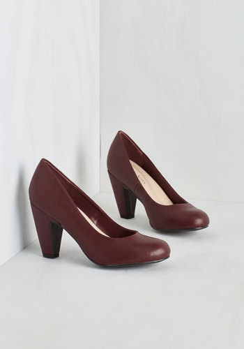 Excellence Achievement Heel in Cabernet $39.99 AT vintagedancer.com