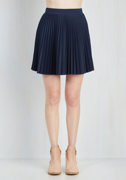 Accordion to You Skirt in Navy