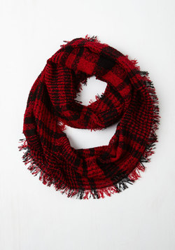 Wrap Song Circle Scarf in Red
