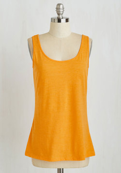 Salute Your Sports Top in Tangerine
