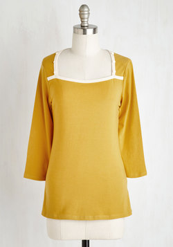 Cafe Crush Top in Goldenrod