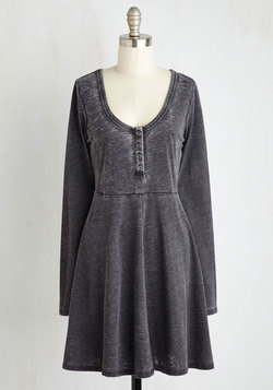 On a Grinning Streak Dress in Charcoal