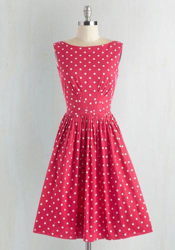 Daytrip Darling Dress in Dots $104.99 AT vintagedancer.com