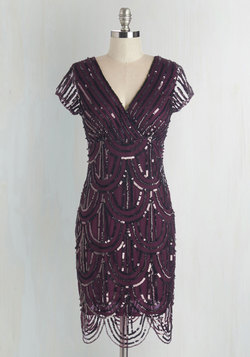Cascading Cava Dress in Plum