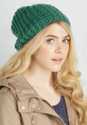 Beignet or Nay Hat in Turquoise - Solid, Knitted, Casual, Variation, Blue, Knit, Winter, Fall, Gifts2015, Gals