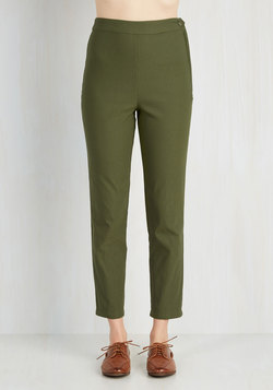 A Chic Start Pants in Olive
