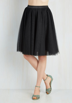 Turning in Tulle Skirt in Black