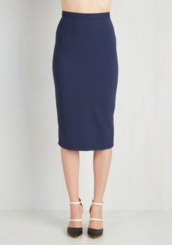 Admirable Individuality Skirt in Navy