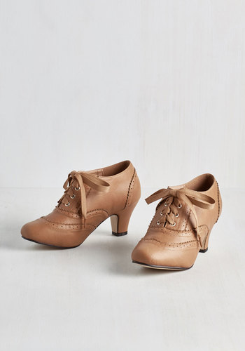 Dance it Up Heel in Tan $49.99 AT vintagedancer.com