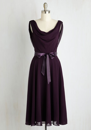 Truly, Madly, Dreamy Dress in Aubergine