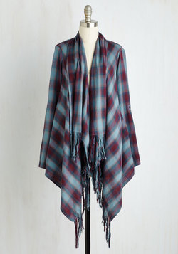 Beach House Brunch Jacket in Burgundy Plaid
