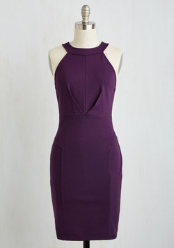 Anniversary Allure Dress in Plum