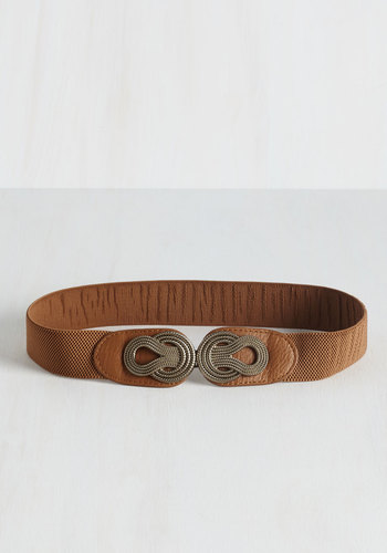 Boldly Buckled Belt in Cognac - Tan, Silver, Solid, Better, Variation, Festival, Boho