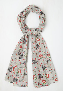 Pug at My Heartstrings Scarf