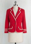 Academia Ahoy Blazer in Red