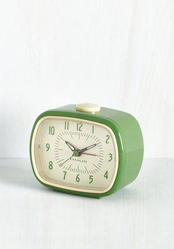 It's About Timeless Clock in Fern