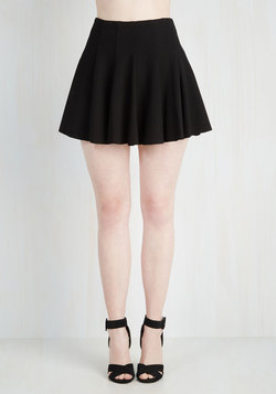 Records Before Breakfast Skirt in Black