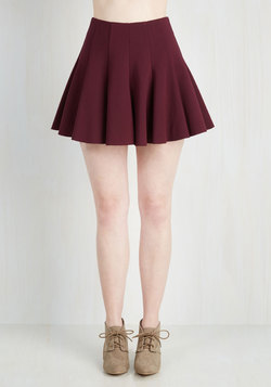 Records Before Breakfast Skirt in Bordeaux