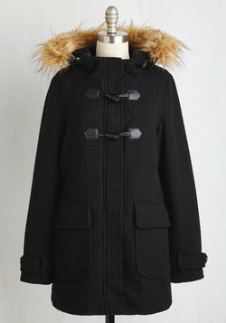 Toasty Transit Coat in Black