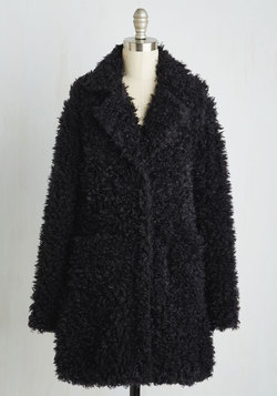 Gallery Glamour Coat in Noir