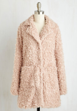 Gallery Glamour Coat in Blush