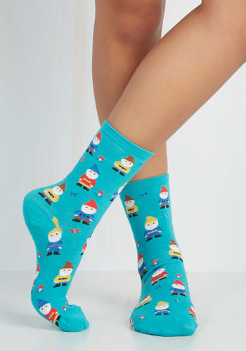 Make Yourself Gnome Socks - Blue, Multi, Fairytale, Knitted, Best Seller, Quirky, As You Wish Sale, Top Rated