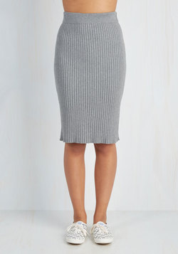 Stretch of Timeless Skirt in Ash