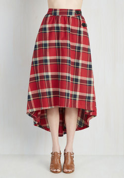 London Is for Lovers Skirt in Ruby