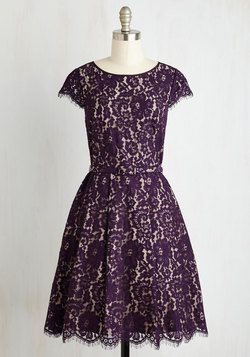 Left in a Spin Dress in Purple