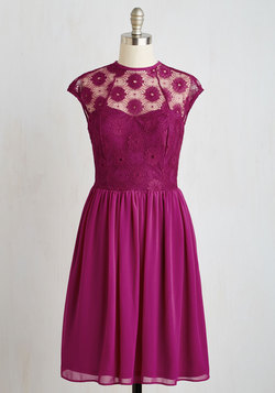 Up and Stunning Dress in Fuchsia