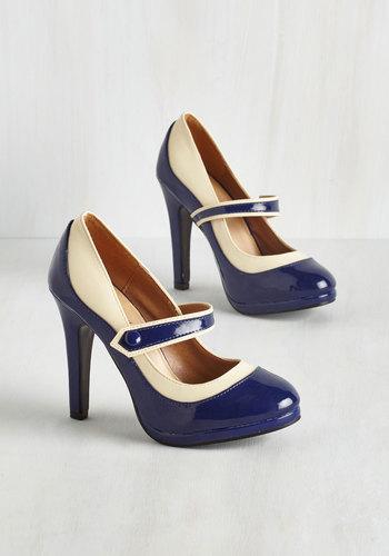 Classy Indeed Heel in Navy $44.99 AT vintagedancer.com