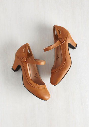 Novella Enchanted Heel in Tawny $49.99 AT vintagedancer.com