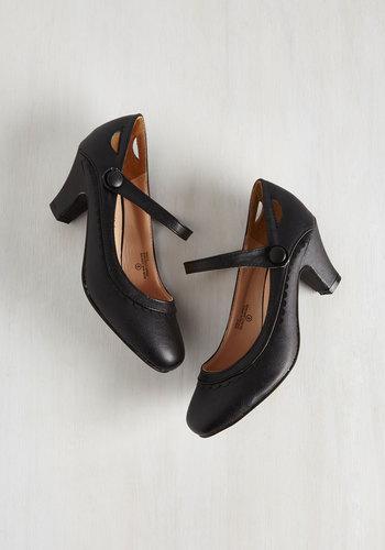 Novella Enchanted Heel in Raven $49.99 AT vintagedancer.com