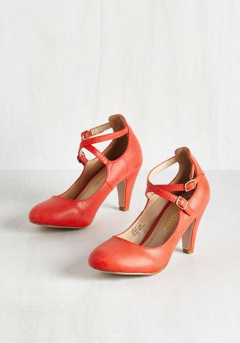 Chic Correlation Heel in Cardinal $49.99 AT vintagedancer.com