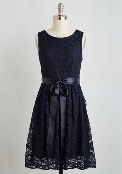 Lovely as Lychee Dress in Navy