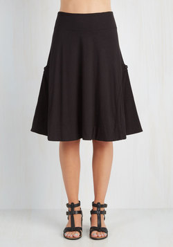 At the Racquet of Dawn Skirt in Black