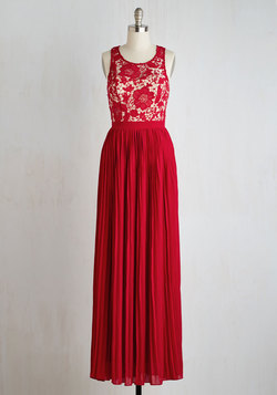 Romantic Semantics Dress in Crimson