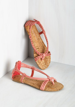 Silly Dally Sandal in Strawberry