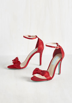 Operatic Elegance Heel in Ruby