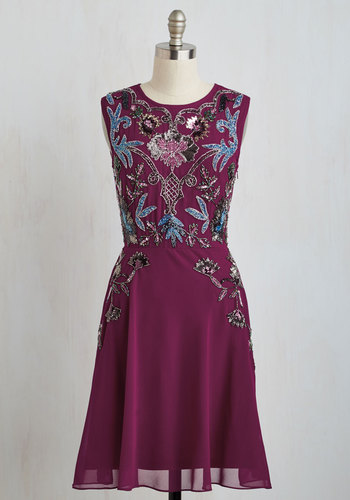 It's Meant to Bead Dress in Berry