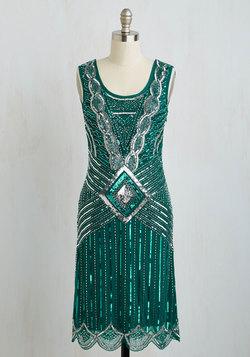 Cabaret Soiree Dress in Emerald