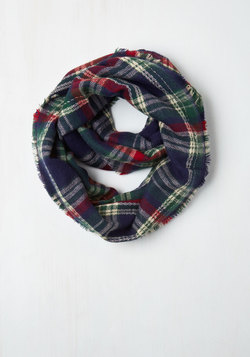 Campus Chill Circle Scarf in Navy